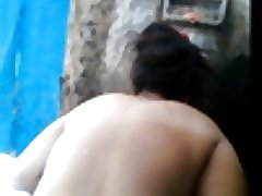 Desi 아내 잡은 목욕